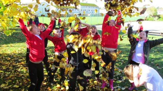 Throwing leaves top
