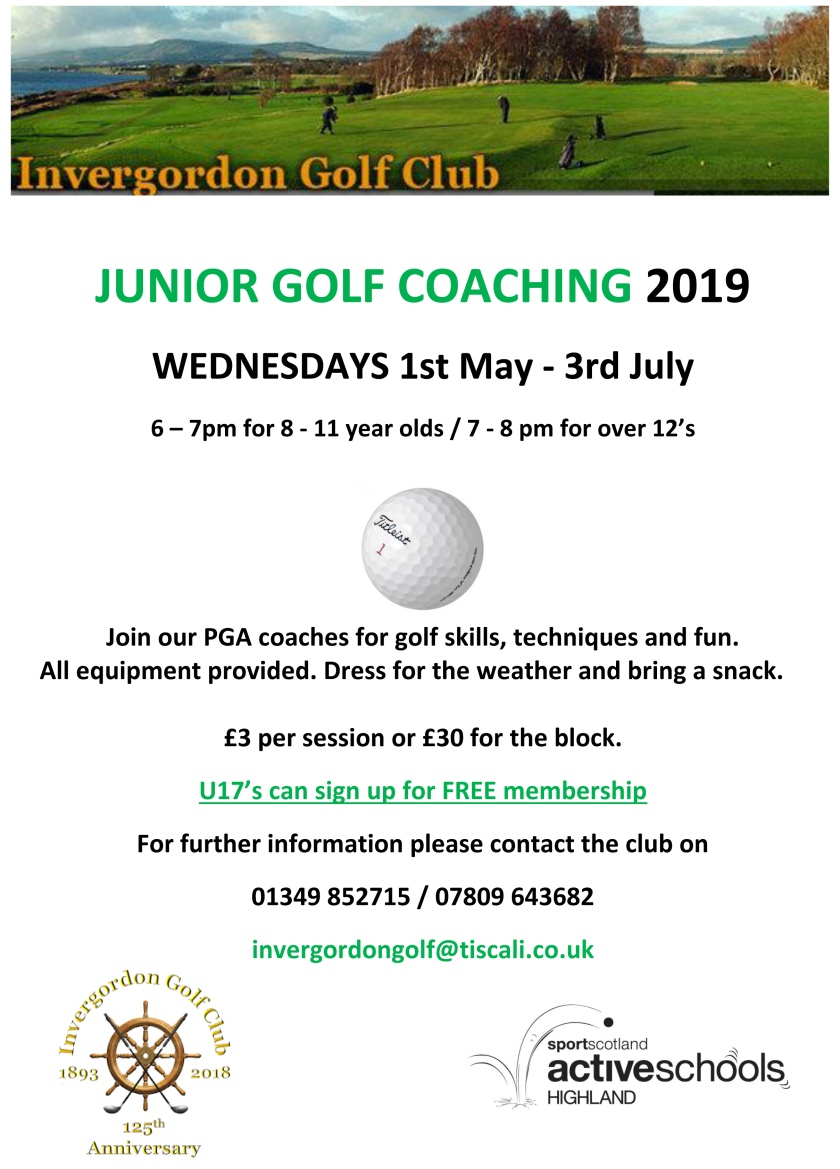 IGC Golf Coaching 2019