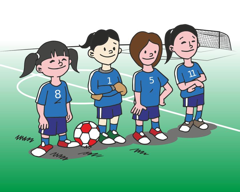 Girls football cartoon 2